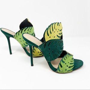 Zara | Wrap Around Leather Palm Leaf Heels